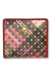 VIVIENNE WESTWOOD Tartan Dots leather wallet