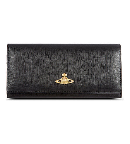 VIVIENNE WESTWOOD Saffiano leather wallet (Black