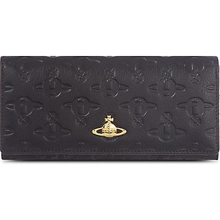 VIVIENNE WESTWOOD Typo orb foldover wallet (Black