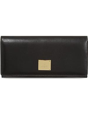 VIVIENNE WESTWOOD Brompton plaque flapover wallet