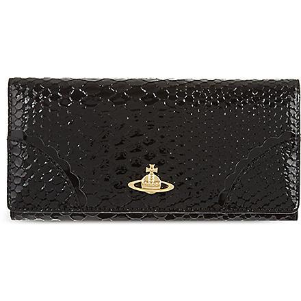 VIVIENNE WESTWOOD Large Monaco leather wallet (Black