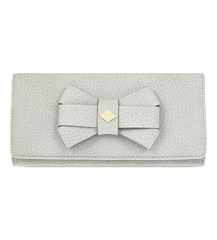 VIVIENNE WESTWOOD Bow detail long wallet (Grey