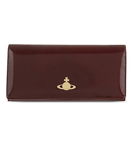 VIVIENNE WESTWOOD Large Monaco leather wallet (Castagna