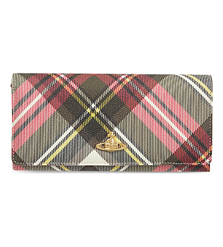 VIVIENNE WESTWOOD Check Derby wallet (New+exhibition