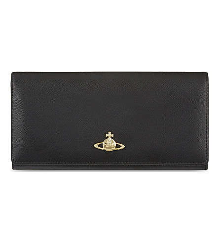 VIVIENNE WESTWOOD Saffiano leather wallet (Nero
