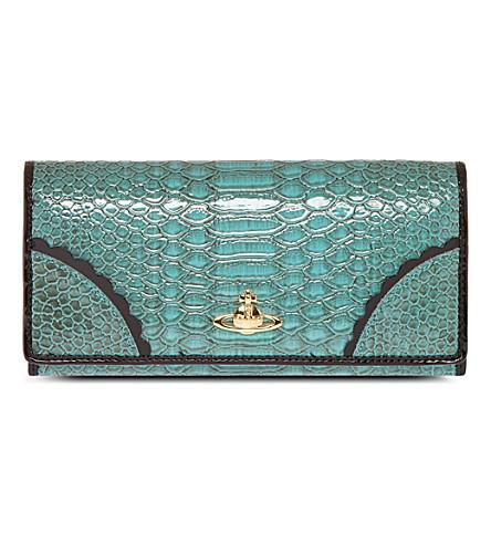VIVIENNE WESTWOOD Brompton purse (Turquoise