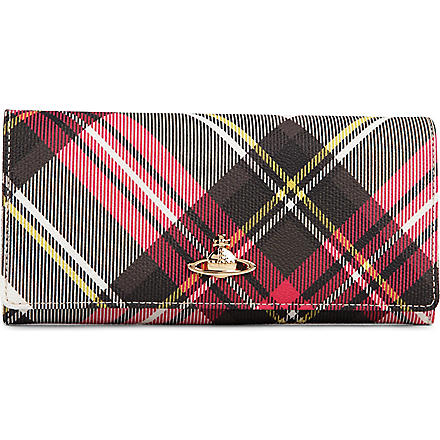 VIVIENNE WESTWOOD Chancery Derby slim continental wallet (New exhibition/tan