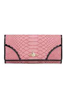 VIVIENNE WESTWOOD Frilly Snake leather wallet
