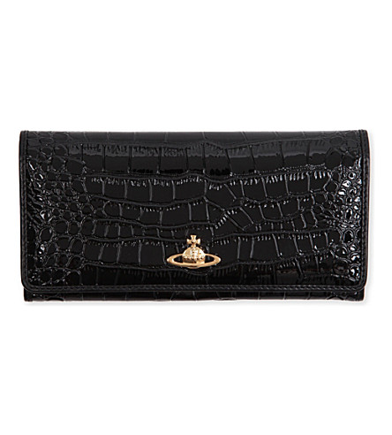 VIVIENNE WESTWOOD Chancery slim continental wallet (Black