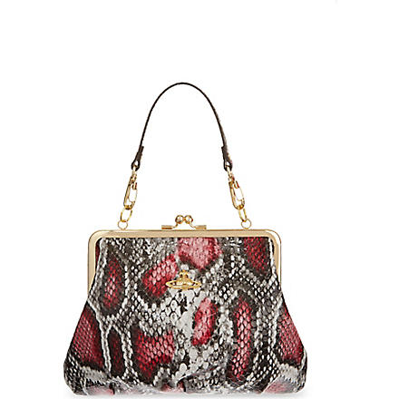 VIVIENNE WESTWOOD Frilly snake cross-body bag (Cherry