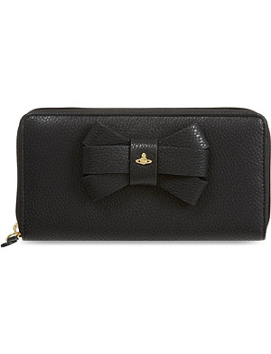 VIVIENNE WESTWOOD Bow zip-around purse