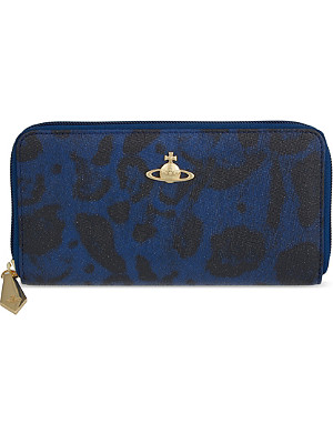VIVIENNE WESTWOOD Jungle leopard zip-around continental wallet