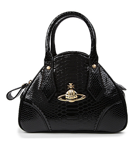 VIVIENNE WESTWOOD Frilly Snake Yasmine small tote (Black