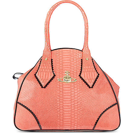 VIVIENNE WESTWOOD Frilly Snake Yasmin tote (Strawberry