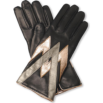 VIVIENNE WESTWOOD Metallic print ladies' gloves (Nero