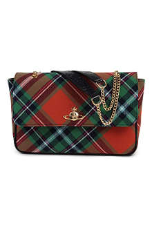 VIVIENNE WESTWOOD Winter tartan shoulder bag
