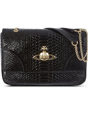VIVIENNE WESTWOOD Frilly snake shoulder bag