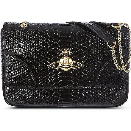 VIVIENNE WESTWOOD Frilly snake shoulder bag (Black