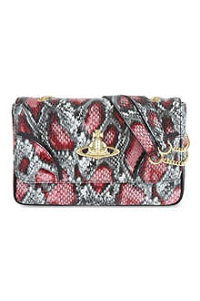 VIVIENNE WESTWOOD Frilly snake shoulder bag