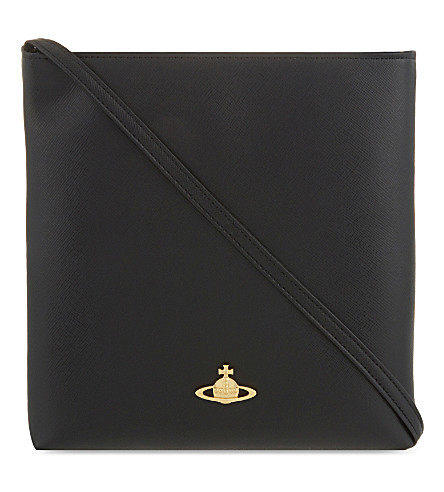 VIVIENNE WESTWOOD Orb leather cross-body bag (Nero