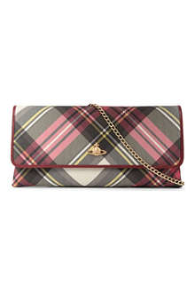 VIVIENNE WESTWOOD Frilly snake-chain clutch bag
