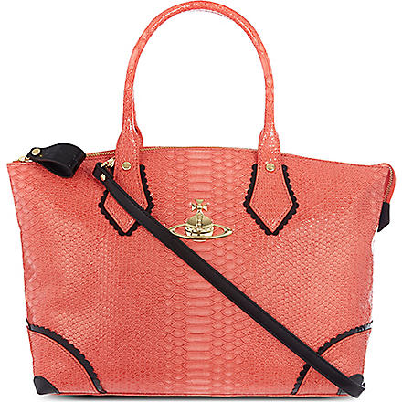 VIVIENNE WESTWOOD Frilly Snake tote (Strawberry