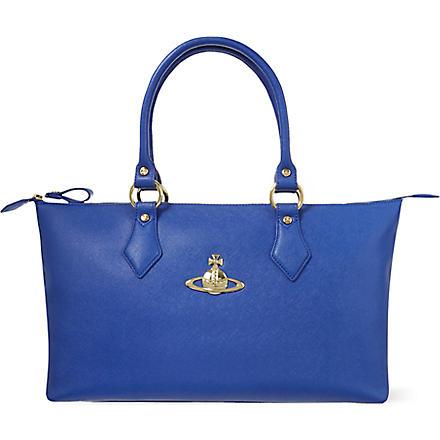 VIVIENNE WESTWOOD Divina leather tote (Blu