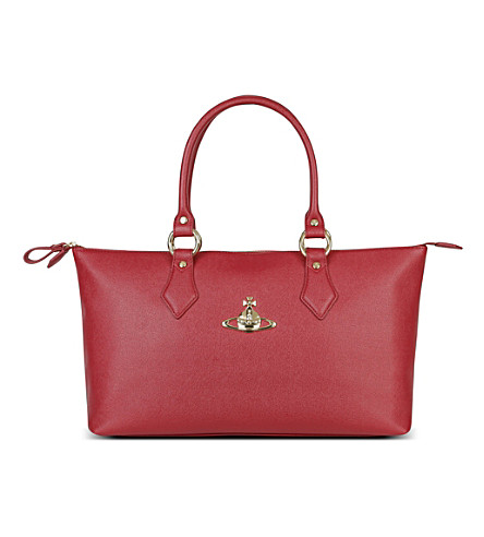 VIVIENNE WESTWOOD Divina leather tote (Rosso
