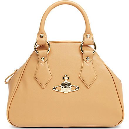 VIVIENNE WESTWOOD Divina Yasmine small leather handbag (Beige