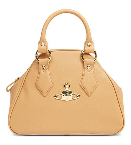 VIVIENNE WESTWOOD Divina Yasmine small leather handbag (Beige