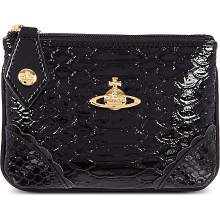 VIVIENNE WESTWOOD Frilly Snake coin purse (Black