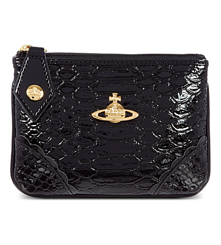 VIVIENNE WESTWOOD Frilly Snake coin purse (Black