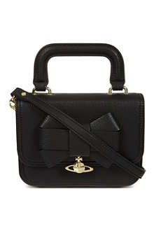 VIVIENNE WESTWOOD Leather bow tiny cross-body bag
