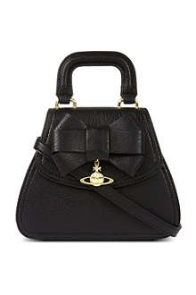 VIVIENNE WESTWOOD Jasmine bow-detailed leather tote