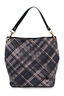 VIVIENNE WESTWOOD Techno tartan shoulder bag