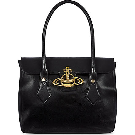 VIVIENNE WESTWOOD Leather tote (Nero