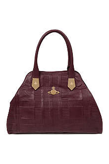 VIVIENNE WESTWOOD Jasmine embossed leather tote