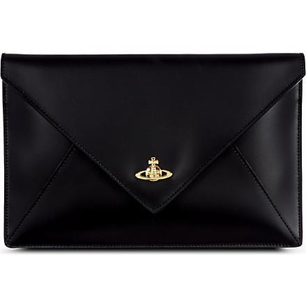 VIVIENNE WESTWOOD Envelope iPad mini clutch (Black