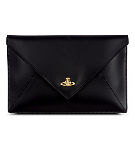 VIVIENNE WESTWOOD Envelope iPad mini clutch (Black