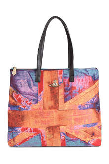 VIVIENNE WESTWOOD Union Jack medium tote