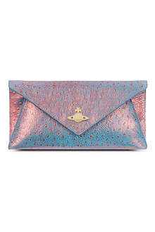 VIVIENNE WESTWOOD Cote D'Azur leather clutch