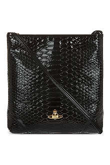 VIVIENNE WESTWOOD Patent snake-embossed cross-body bag