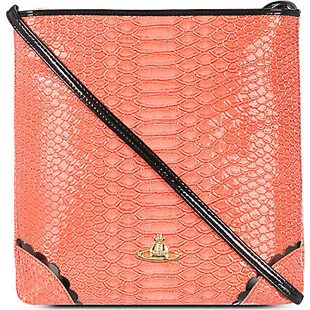 VIVIENNE WESTWOOD Frilly Snake cross-body bag (Strawberry