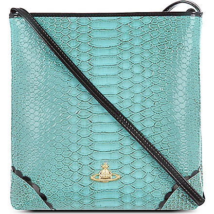 VIVIENNE WESTWOOD Frilly Snake cross-body bag (Turquoise
