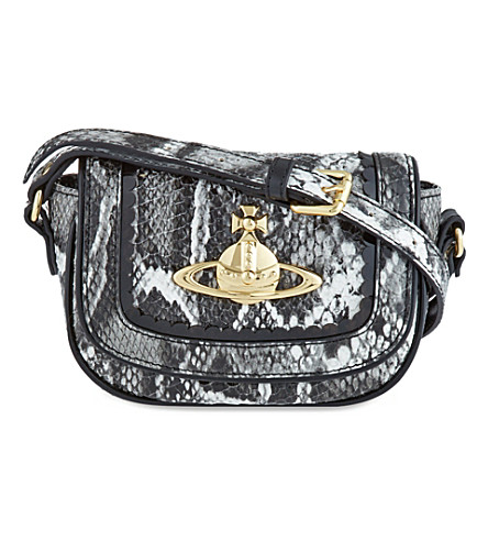 VIVIENNE WESTWOOD Frilly snake cross-body bag (Grey