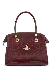 VIVIENNE WESTWOOD Snake-embossed shoulder bag