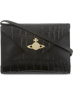VIVIENNE WESTWOOD Small snake embossed cross-body bag