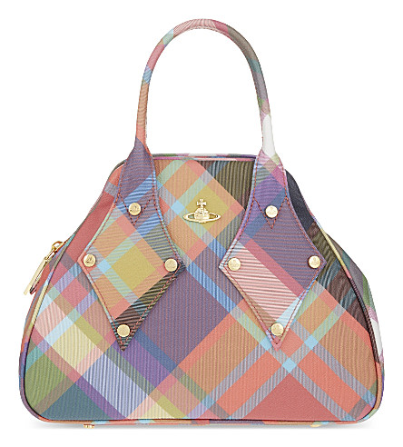 VIVIENNE WESTWOOD Derby leather tote (Harlequin