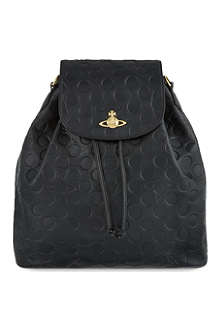 VIVIENNE WESTWOOD Polka-dot leather backpack
