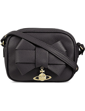 VIVIENNE WESTWOOD Bow leather cross-body bag